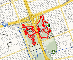 Cunningham Park North Woods Mountain Bike Trails Map