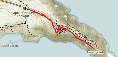 Cape Point: Lighthouse Keeper's Trail Map