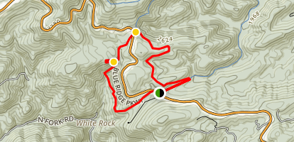 White Rock Falls Loop Map