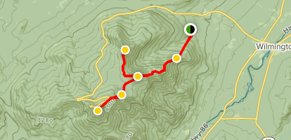 Whiteface, Lookout and Esther Mountains Map