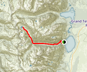 Lake Solitude via Lake Solitude and Cascade Canyon Trail Map