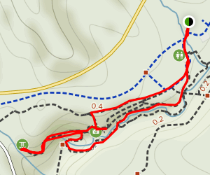 Broken Rock Falls Loop Map