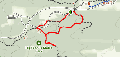 Dripping Rock Trail: Short Loop Map