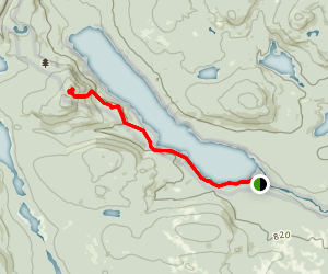Nahmakanta Lake to Nesuntabunt Mountain via Appalachian Trail Map