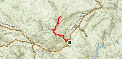 Gaskill and Lawson Peaks Map