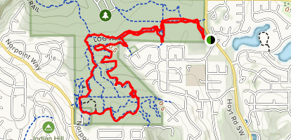 Boundary Trail to Log Jam Trail Loop Map