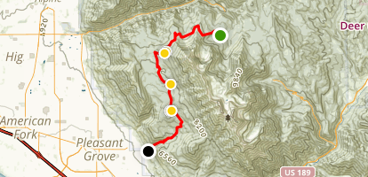 Timpanooneke Campground to Battle Creek Canyon Map