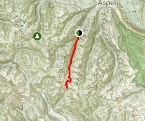 East Maroon Trail to Copper Basin Map