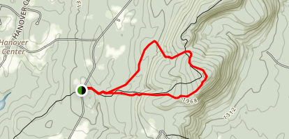 Harris Cabin to South Moose Mountain Trail via Appalachian Trail Map