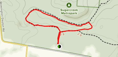 Sugarcreek MetroPark Short Loop Map