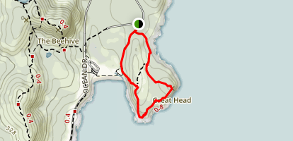 Great Head Trail Loop Map