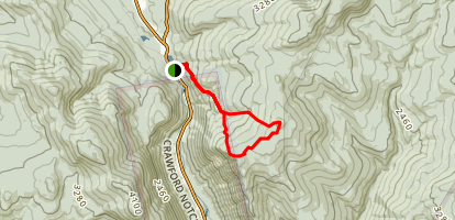 Mount Jackson and Webster Trail Loop Map
