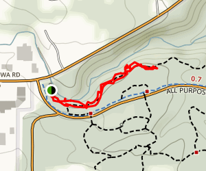 Chippewa Creek Gorge Overloop Map
