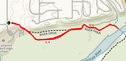 American River via Bannister Park Map