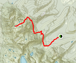 Alpine Lakes Trail to Lake 8609 Map