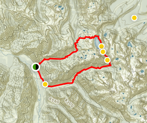 Grandjean Sawtooth Lake Loop Map