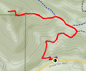 Burro Trail to City Lights Ridge Map