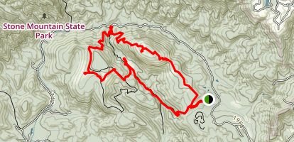 Stone Mountain to Cedar Rock Trail Loop Map