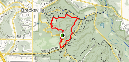 Deer Lick Cave Loop Trail Map
