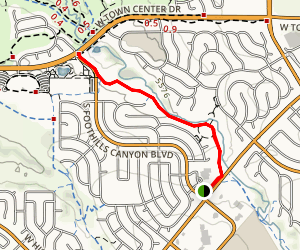 Marcy Gulch Trail from Westridge Rec Center to Rovers Run Map