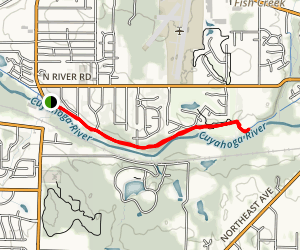 Cuyahoga Bike and Walk River Trail Map