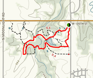 Prairie Center Nature Reserve Loop Map