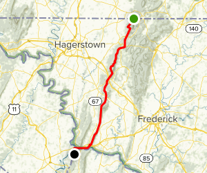 Appalachian Trail: Pen Mar Park to Harpers Ferry National Historic Park Map