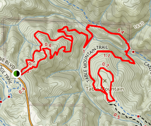 Grizzly Flat Trail to Table Mountain Loop Map