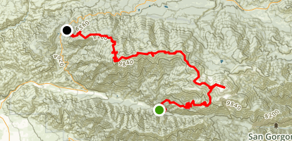 San Bernardino Divide with 9 Summits Map