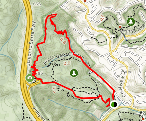 Dusky-Footed Woodrat and Cordilleras Trails Map