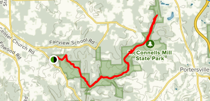 Slippery Rock Gorge Trail Map