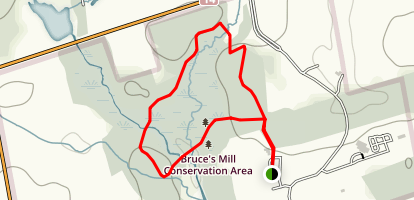 Bruce's Mill Conservation Loop Map
