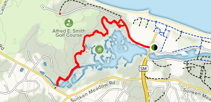 Sunken Meadow Creek Trail Map