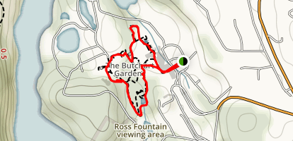 Butchart Gardens Loop Map