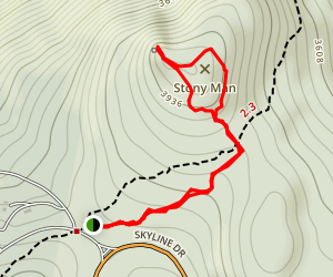 Stony Man Via Appalachian Trail Map