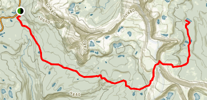 Black Lake via Highline Trail Map