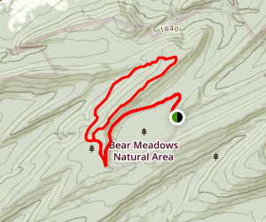 Bear Meadows to Mid-State Loop Map