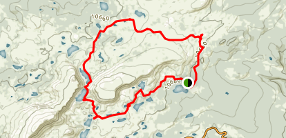 Browns Peak Loop in Snowy Range  Map