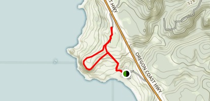 Lone Ranch to Cape Ferrelo Loop Map