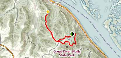 Great River Bluffs Trail and King's Bluff Loop Map