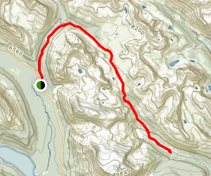 Molar Creek Campground via Molar Pass Route Map