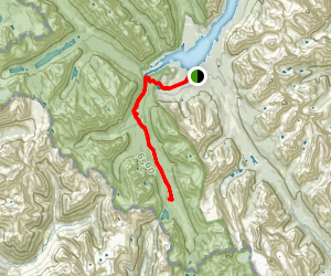 Burstall Campground via Great Divide Trail Map