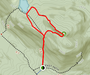 Crane Mountain Pond Map