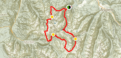 West Snowmass Creek to Capitol Creek to West Maroon Creek Loop Map