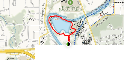 100 Acres Trail Map