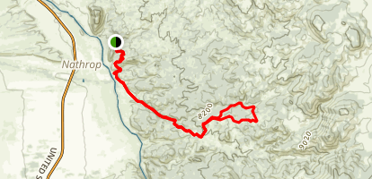 Turret Trail and Catkin Gulch Loop Trail Map