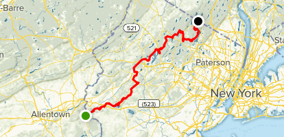Highlands Trail: Riegelsville to New York Border Map