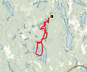 Island Lake Kayak Route Map
