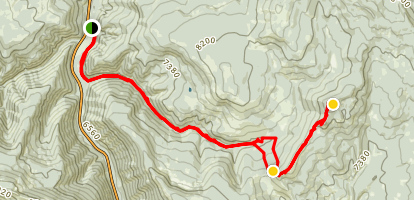 Lone Indian Peak Map