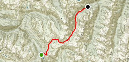 Schofield Pass and West Maroon Pass Map